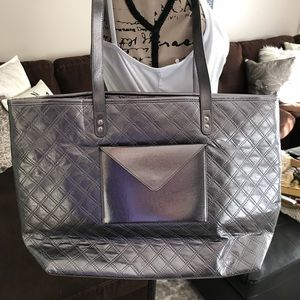 Silver tote bath and body works
